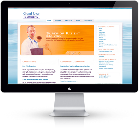 Grand River Surgery Website