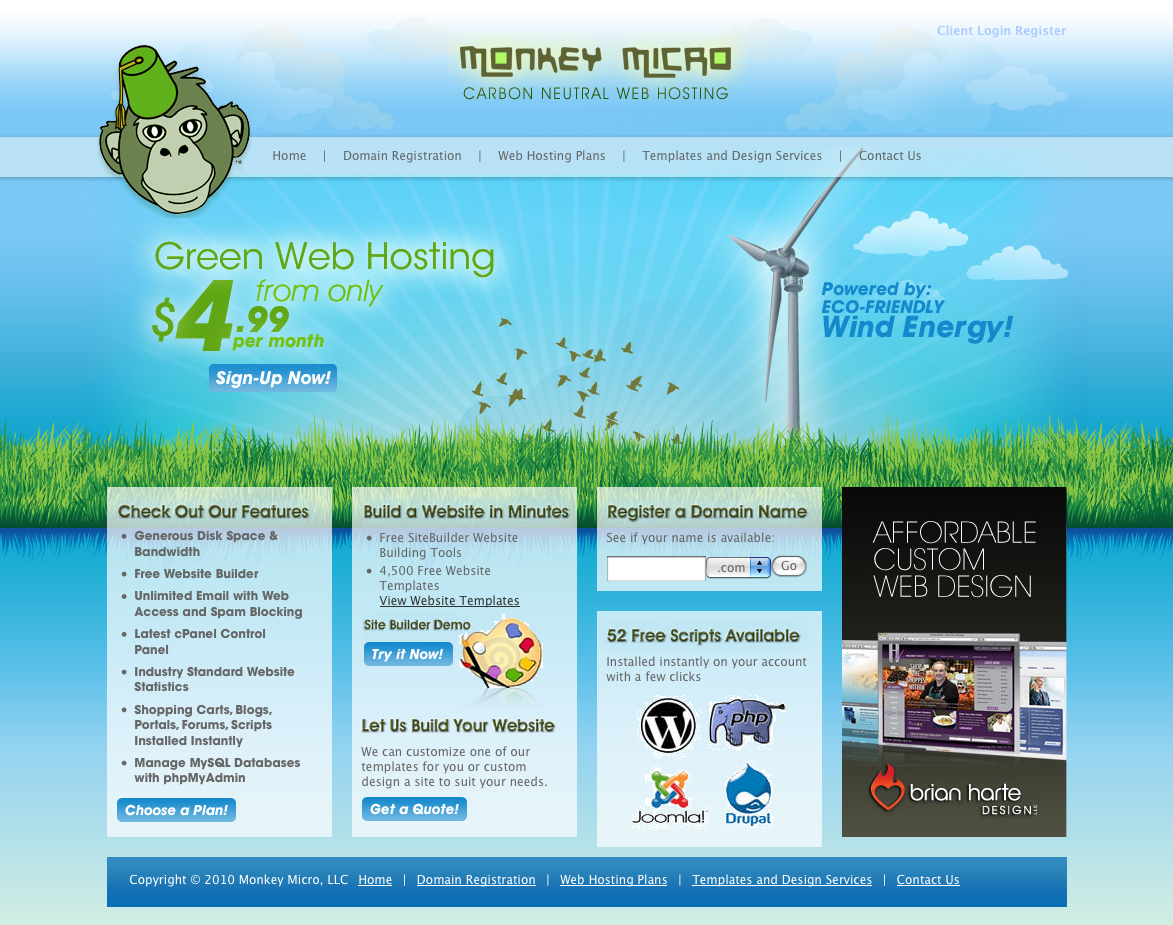 Monkey Micro - Green Web Hosting