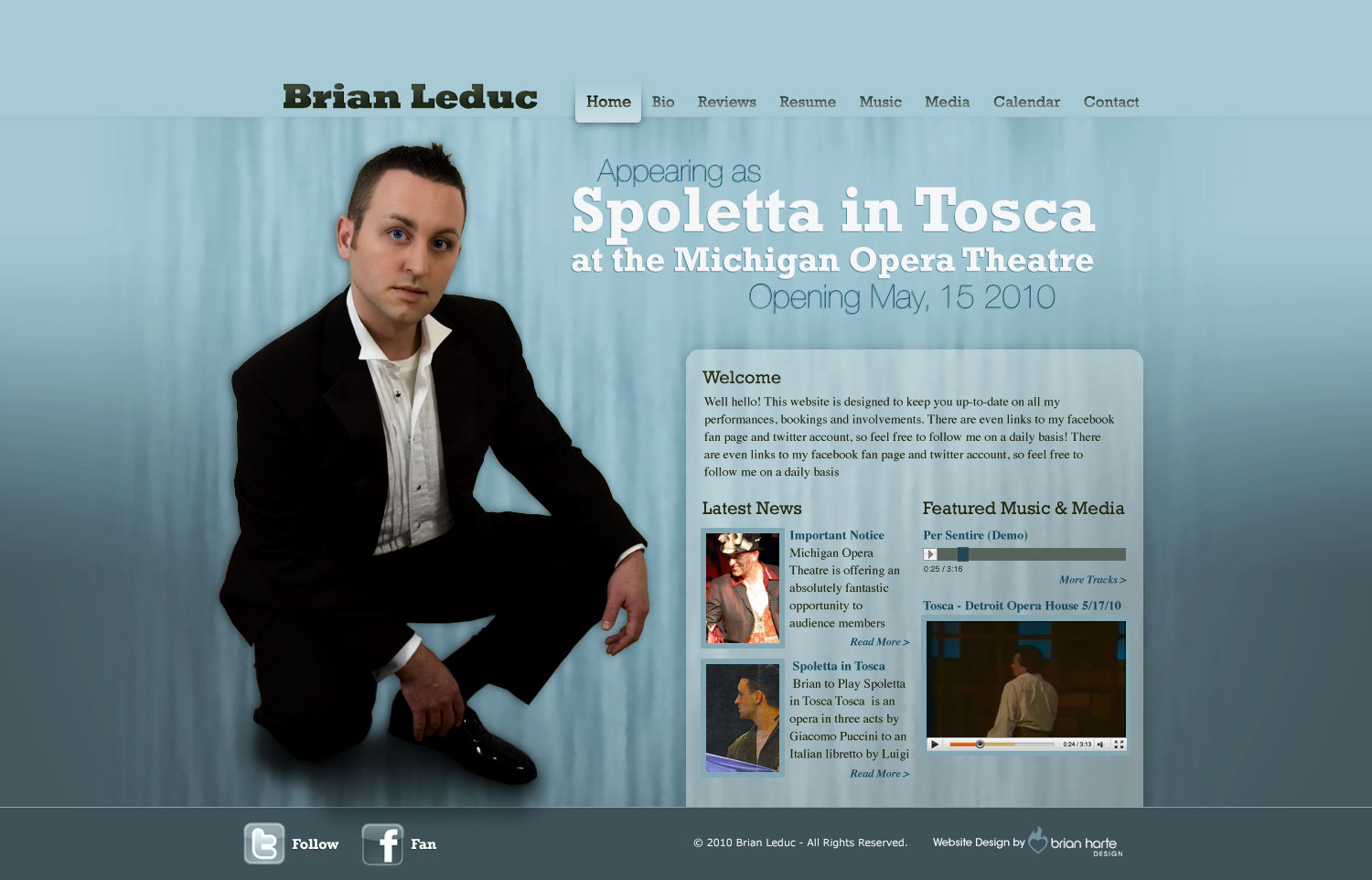 Brian Leduc - Tenor - Website Design