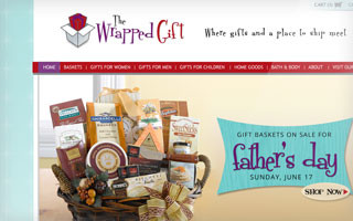 the wrapped gift website