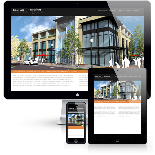 Krieger | Klatt Architects Responsive Website Design