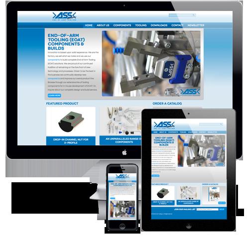 >ASS< End of Arm Tooling Responsive Website Design