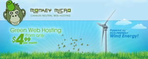 Monkey Micro Green Web Hosting