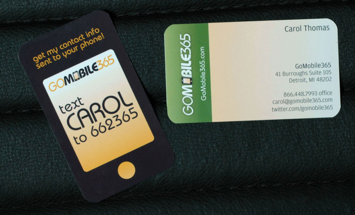 gomobile business cards