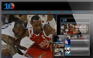 Responsive Website Design basketball great JR Holden's company 10 inc